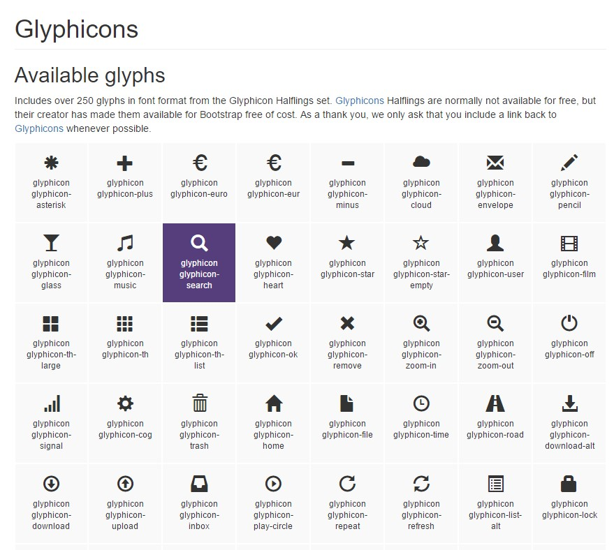 Bootstrap Icons official documentation