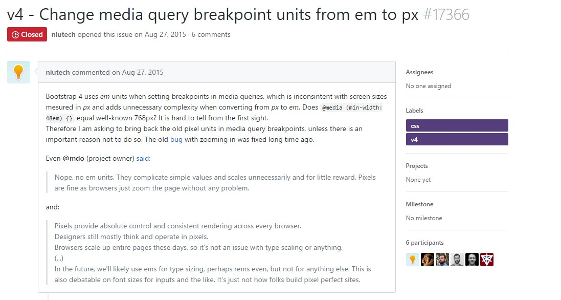 Change media query breakpoint units from 'em' to 'px'