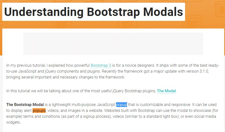 Yet another  handy  post  regarding Bootstrap Modal Popup