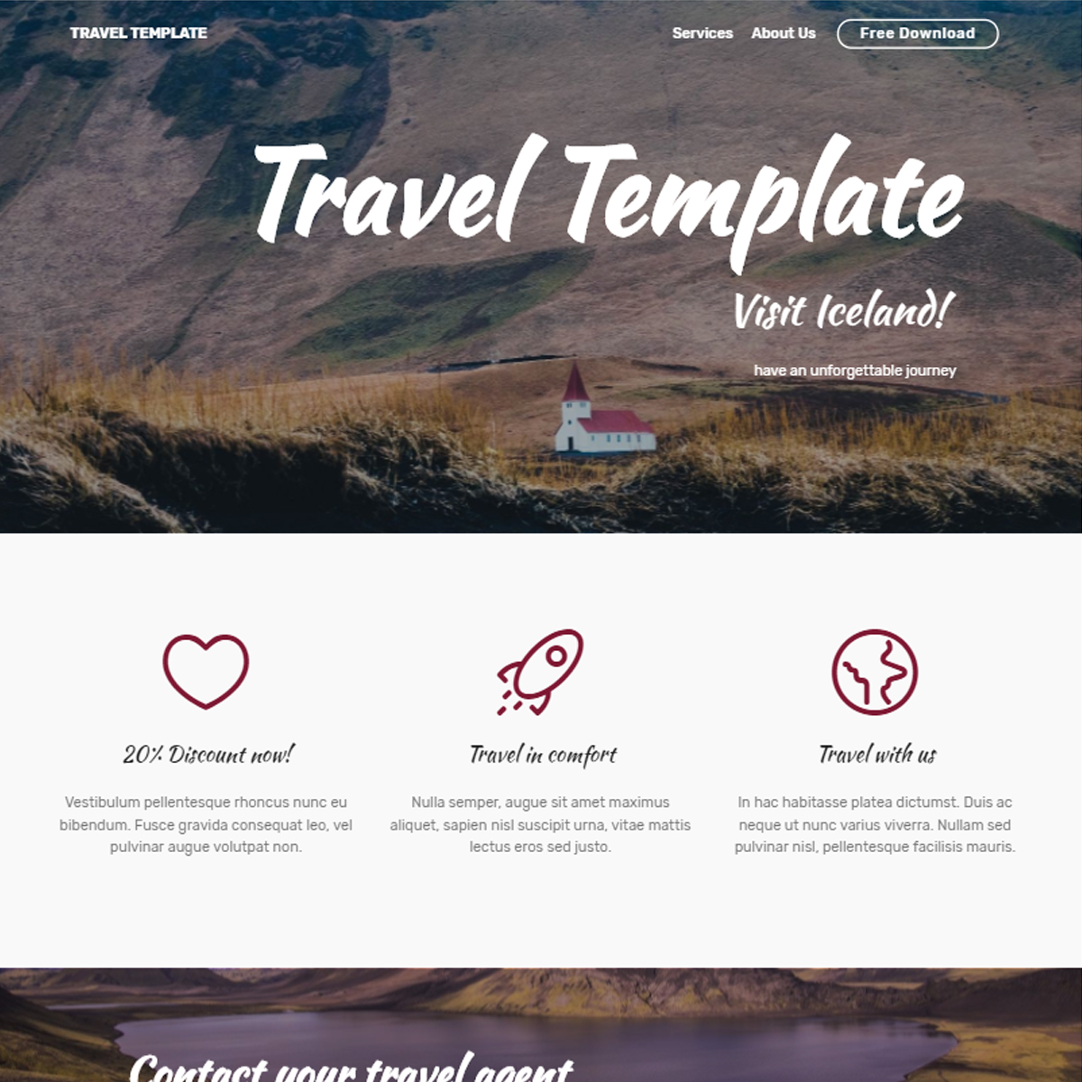 CSS3 Bootstrap Travel Templates