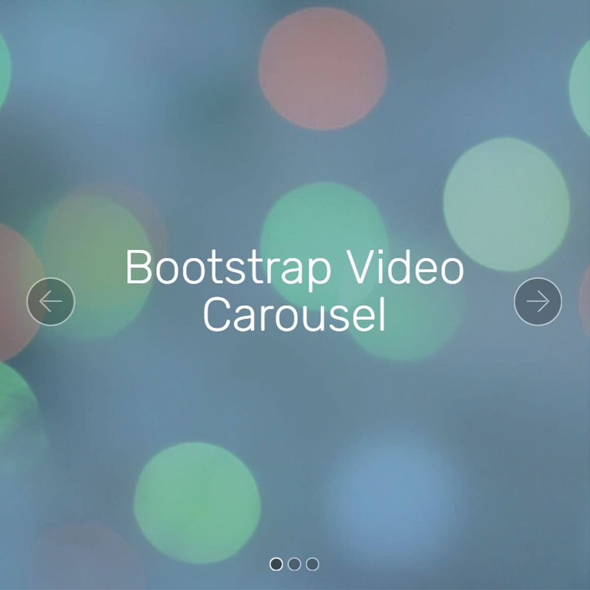 jQuery Bootstrap Photo Slideshow