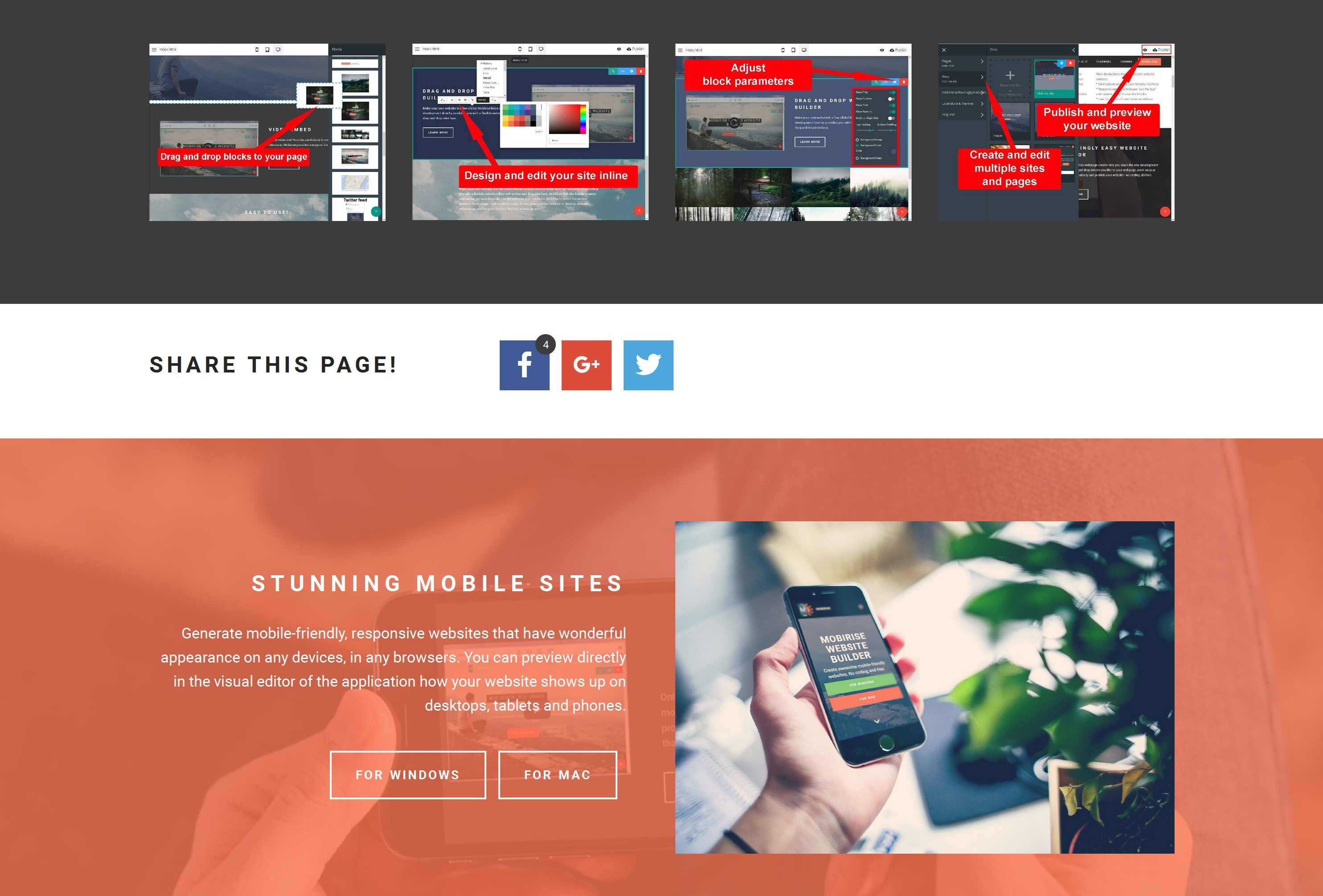 Free and Simple Website Creator