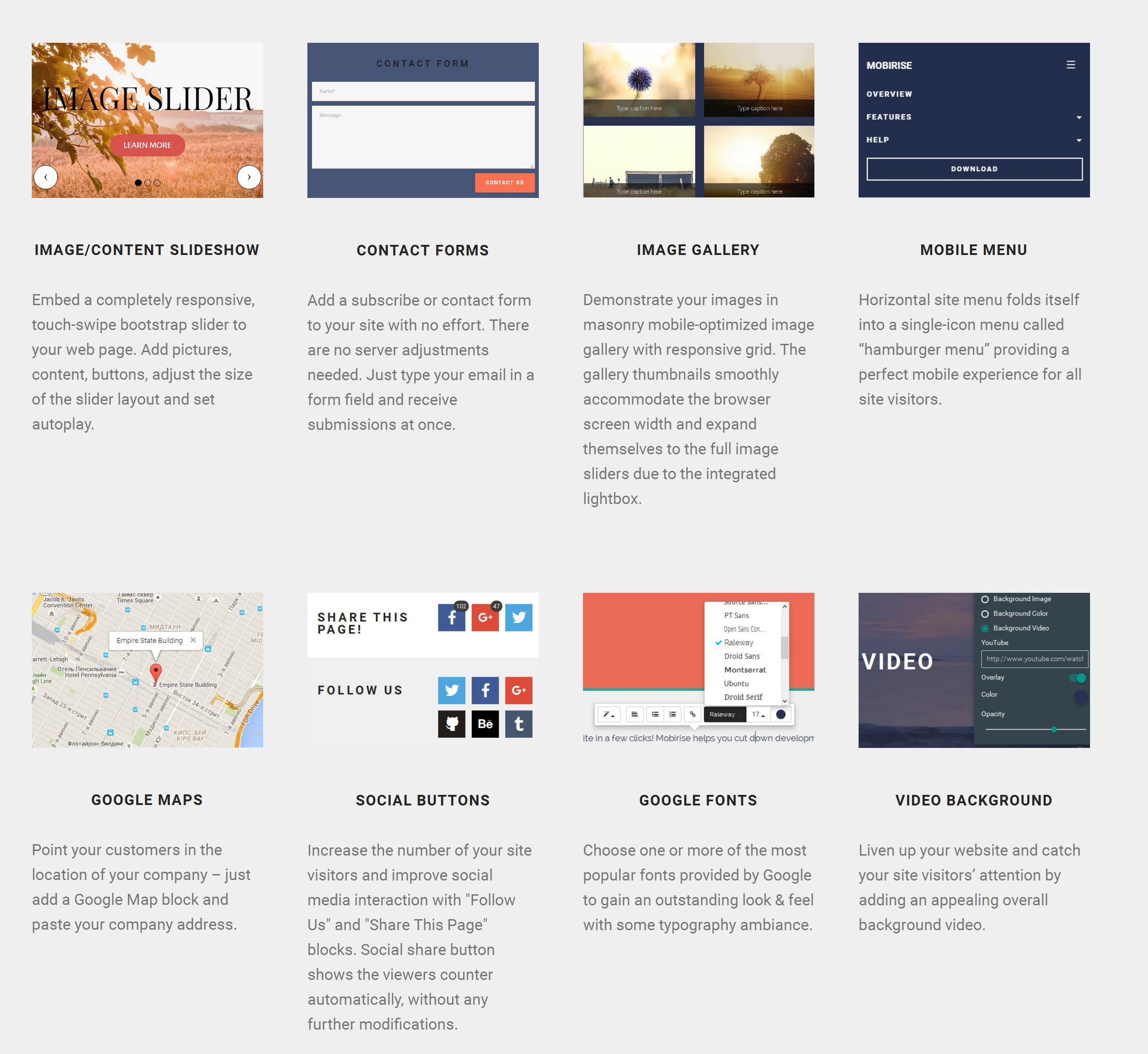 Bootstrap Simple Website Creator Software