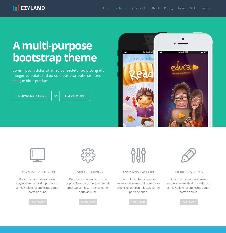 HTML Bootstrap Portal Theme