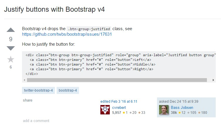 Establish buttons  through Bootstrap v4