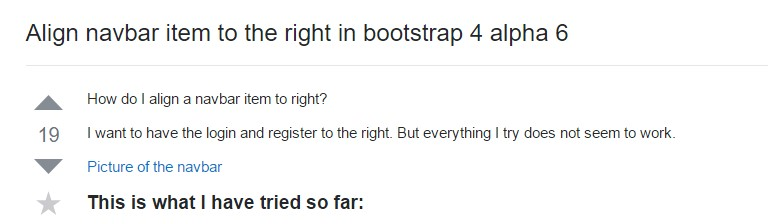 Line up navbar  object to the right in Bootstrap 4 alpha 6