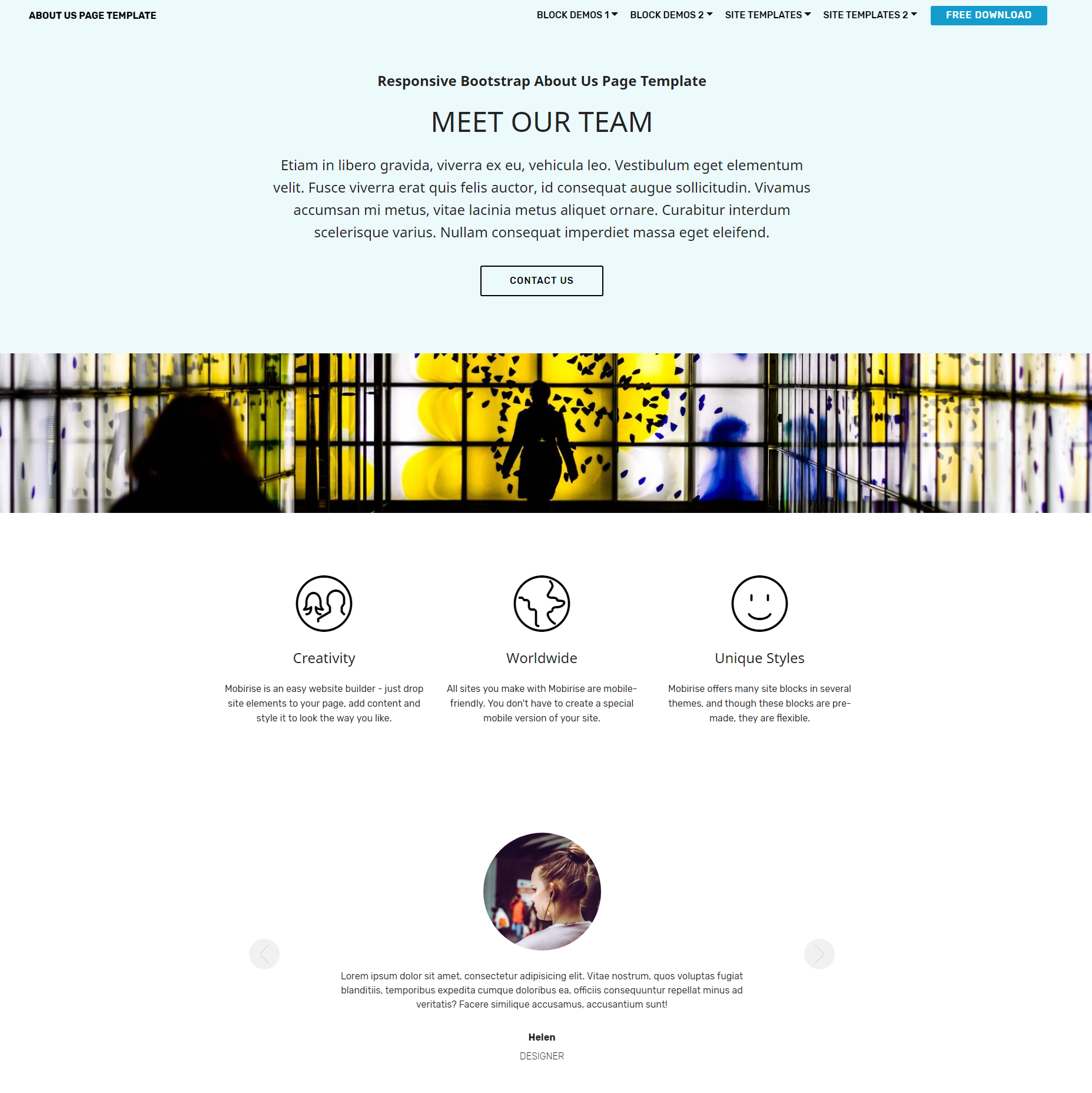 HTML5 Bootstrap  About Us  Themes