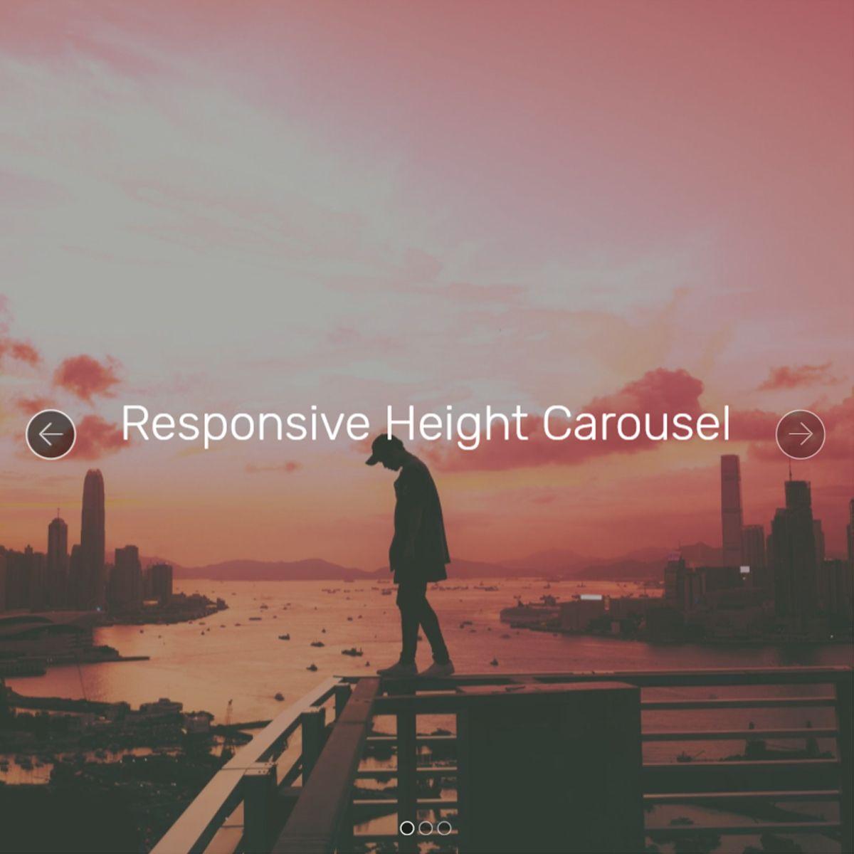 JavaScript Bootstrap Illustration Slideshow