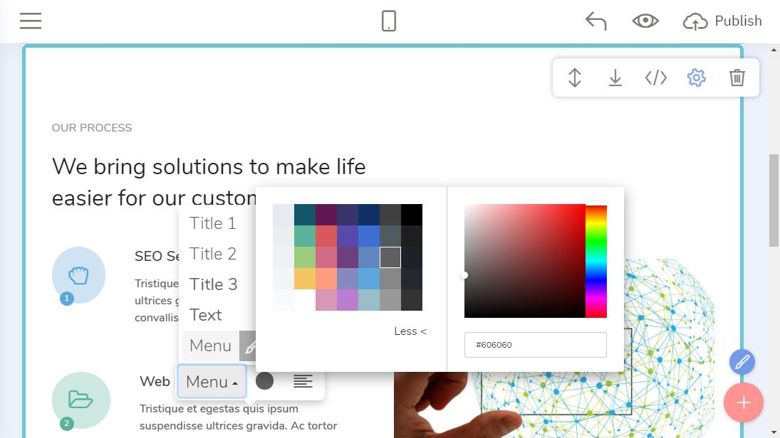 Drag and Drop Web Page Creator